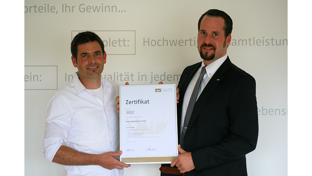 Verleihung des Zertifikates DIE BADGESTALTER.