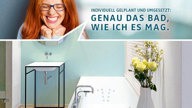 Ein Kleinbad mit Wow-Effekt für eine glückliche Kundin, geplant und realisiert von einem Badprofi.